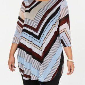 NWT Alfani striped extra long tunic 1x
